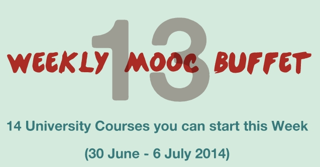 Weekly MOOC Buffet 13